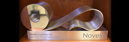 Penske Logistics Earns Supplier Excellence Award from Novelis